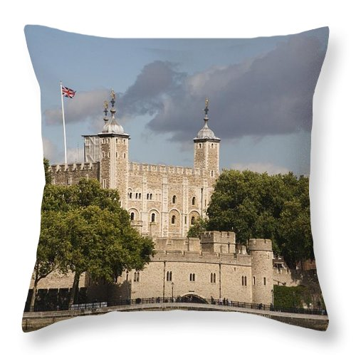 Towers Throw Pillow featuring the photograph The Tower Of London. by Christopher Rowlands
