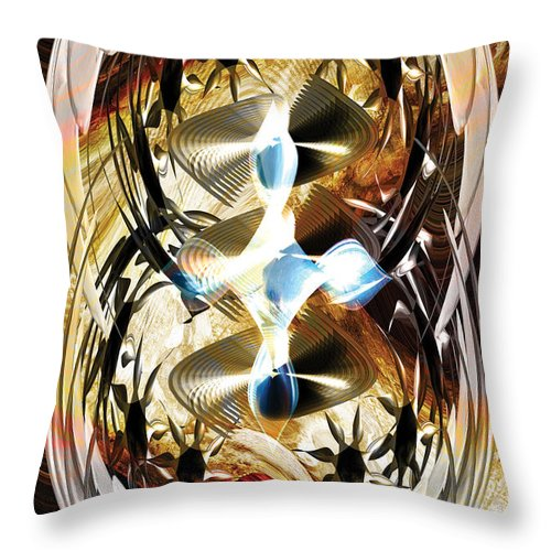 Abstract Throw Pillow featuring the digital art The Trinity Of Time by Tom Daugherty