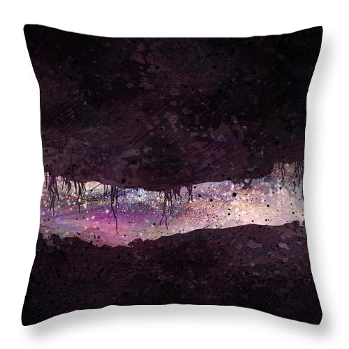 Tunnel Throw Pillow featuring the digital art The Tunnel by William Russell Nowicki