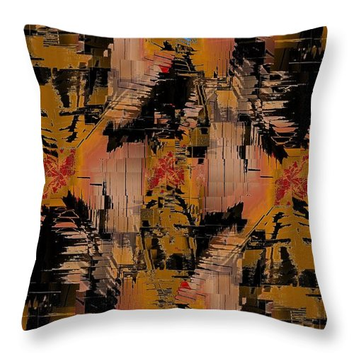 Turmoil Throw Pillow featuring the digital art The Turmoil Within by Tim Allen