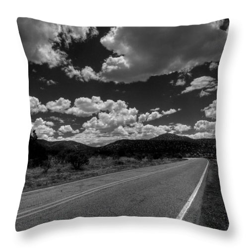 Black And White Throw Pillow featuring the photograph The Turquoise Trail by David Patterson