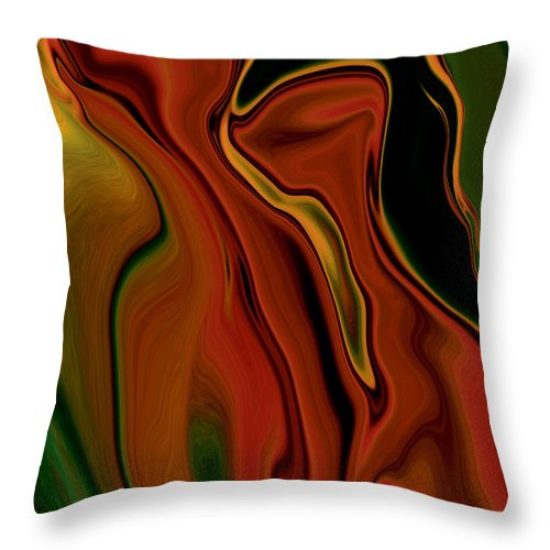 Abstract Throw Pillow featuring the digital art The Two by Rabi Khan