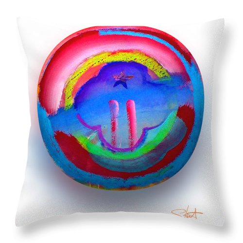 9/11 Throw Pillow featuring the painting The Two Towers by Charles Stuart