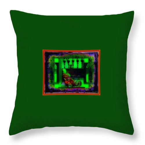 The Understanding Of Dark Matter From Young To Old... Will That Make You A Divine Buddhist? Throw Pillow featuring the digital art the understanding of dark matter from young to old... will that make you a divine Buddhist? by Tony Adamo