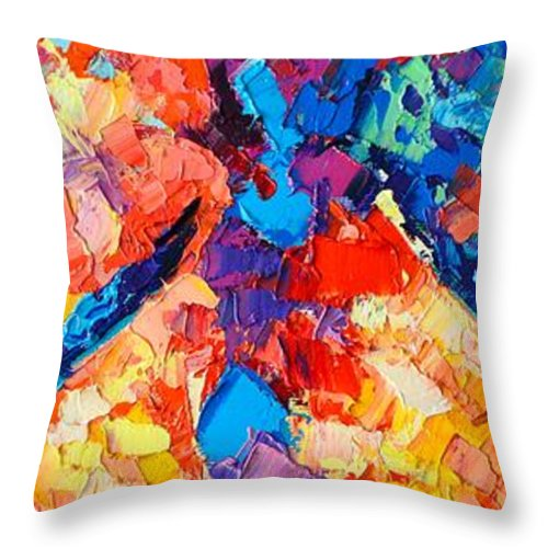 Nude Throw Pillow featuring the painting The Unknown by Ana Maria Edulescu