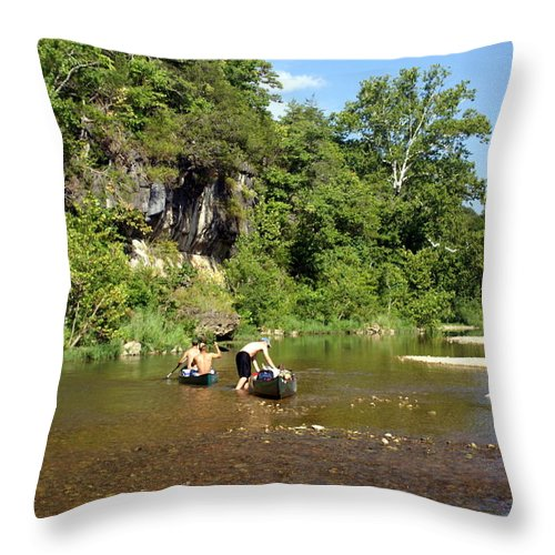 Jack's Fork River Throw Pillow featuring the photograph The Upper Jack by Marty Koch