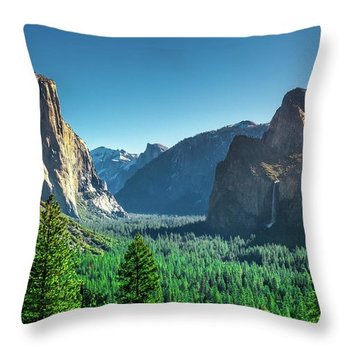 California Throw Pillow featuring the photograph The Valley by Jean-Claude Ardila