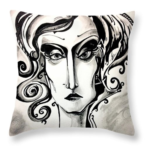 Women Throw Pillow featuring the painting The View by Brittney Norton