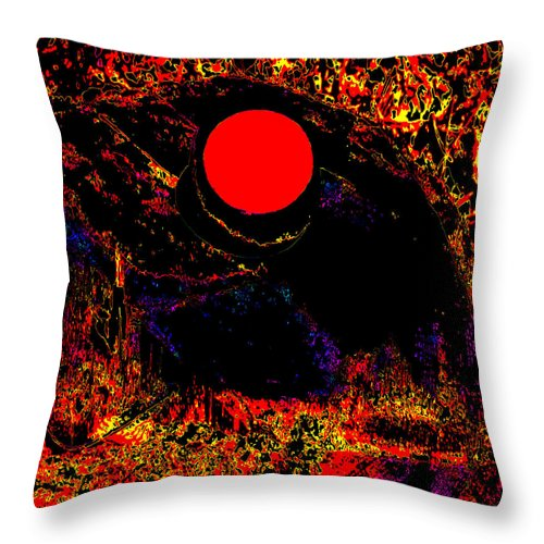 Square Throw Pillow featuring the digital art The View From John Carter's Cave by Eikoni Images