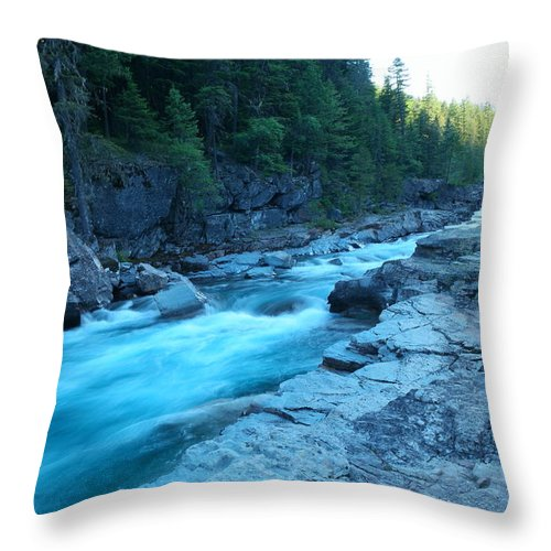 Rivers Throw Pillow featuring the photograph The View Of A River by Jeff Swan