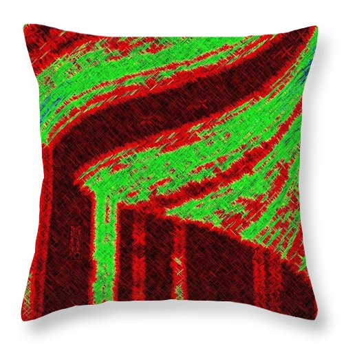 Abstract Throw Pillow featuring the digital art The Village by Will Borden