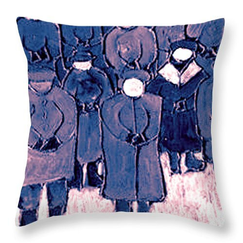 Wake Throw Pillow featuring the painting The Wake by Wayne Potrafka