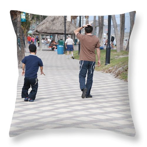 Man Throw Pillow featuring the photograph The Walk by Rob Hans