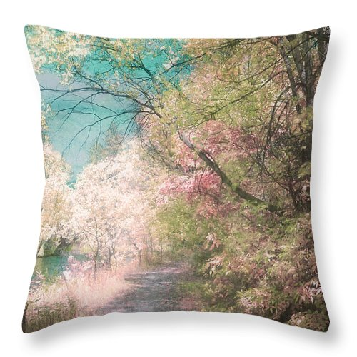 Pastel Throw Pillow featuring the photograph The Walkway Of Forgotten Dreams by Tara Turner