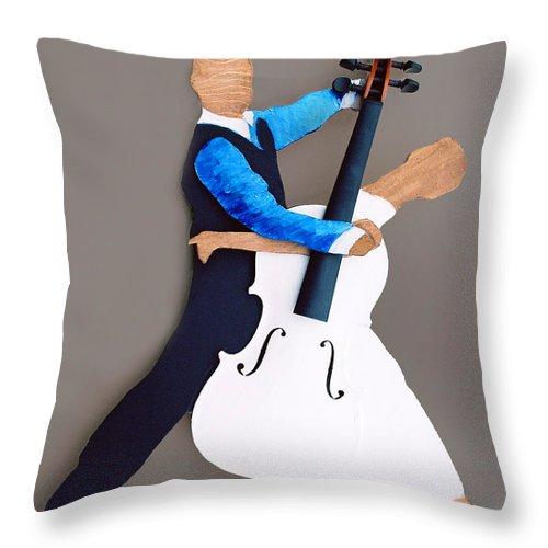 Dance Throw Pillow featuring the sculpture The Waltz by Steve Karol