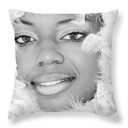 Clay Throw Pillow featuring the photograph The Watcher IIip by Clayton Bruster