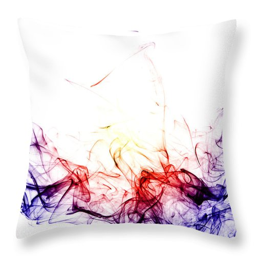 Red Throw Pillow featuring the photograph The Wave by Stephen Gleave