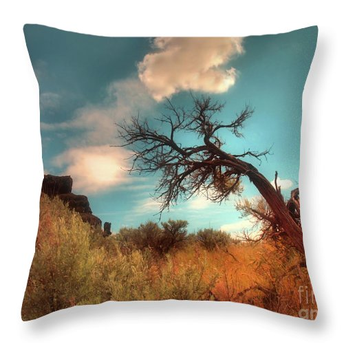Tree Throw Pillow featuring the photograph The Weight Of Clouds by Tara Turner