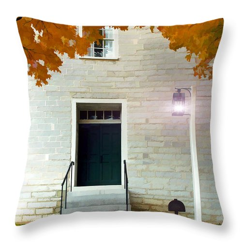 Shaker Throw Pillow featuring the photograph The Welcoming Shakers by Sam Davis Johnson