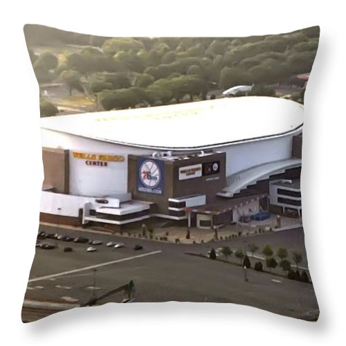 Sports Throw Pillow featuring the photograph The Wells Fargo Center by Bill Cannon