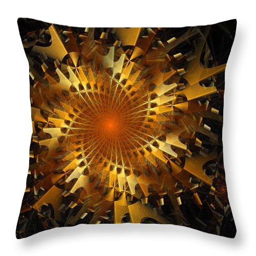 Digital Art Throw Pillow featuring the digital art The Wheels Of Time by Amanda Moore