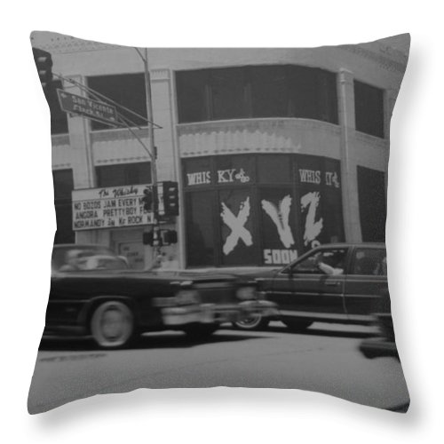 Black And White Throw Pillow featuring the photograph The Whiskey In Black And White by Rob Hans