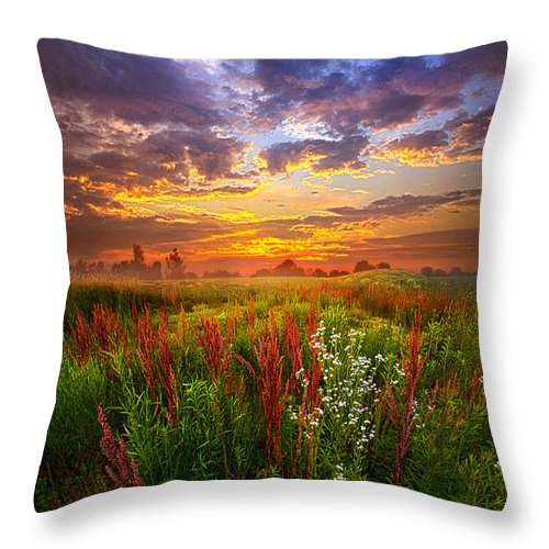 Travel Throw Pillow featuring the photograph The Whispered Voice Within by Phil Koch
