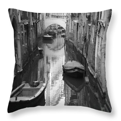 Venice Throw Pillow featuring the photograph The White Bridge by Donna Corless
