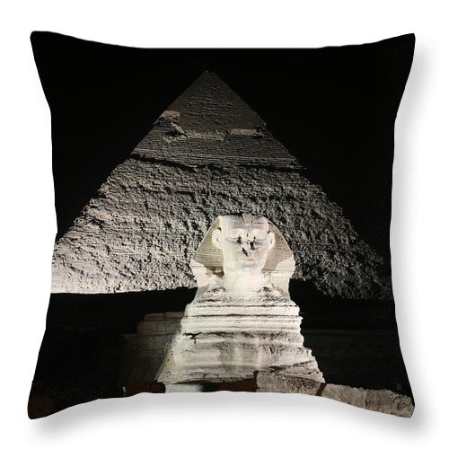 Sphynx Throw Pillow featuring the photograph The White Sphynx by Donna Corless