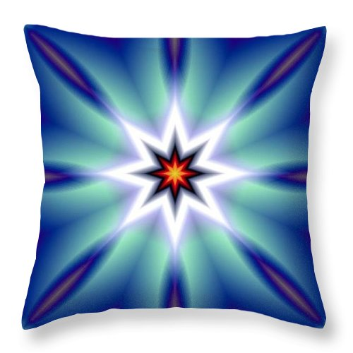 Decorative Throw Pillow featuring the digital art The White Star by Oscar Basurto Carbonell