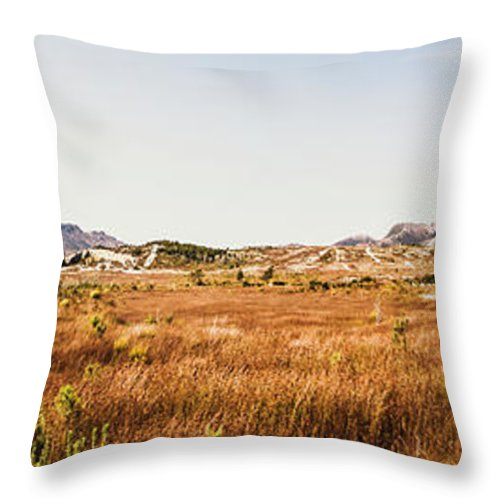 Australia Throw Pillow featuring the photograph The Wide West by Jorgo Photography - Wall Art Gallery