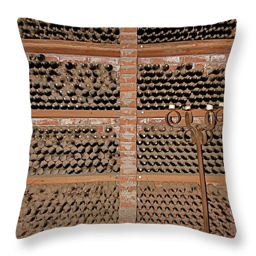 Colchagua Throw Pillow featuring the photograph The Wine Cellar by Brett Winn