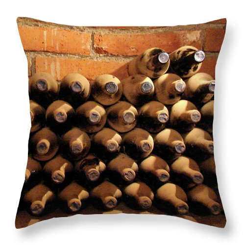 Colchagua Throw Pillow featuring the photograph The Wine Cellar II by Brett Winn