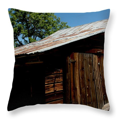 Usa Throw Pillow featuring the photograph The Wood Shed by LeeAnn McLaneGoetz McLaneGoetzStudioLLCcom