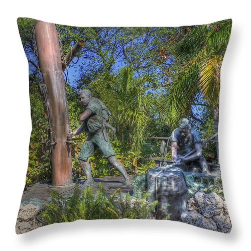 Key West Throw Pillow featuring the photograph The Wreckers by Shelley Neff