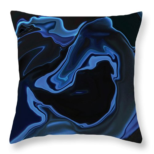Art Throw Pillow featuring the digital art The Young Mermaid by Rabi Khan
