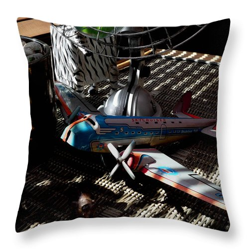 Still Life Throw Pillow featuring the photograph The Zebra In Colour by Charles Stuart