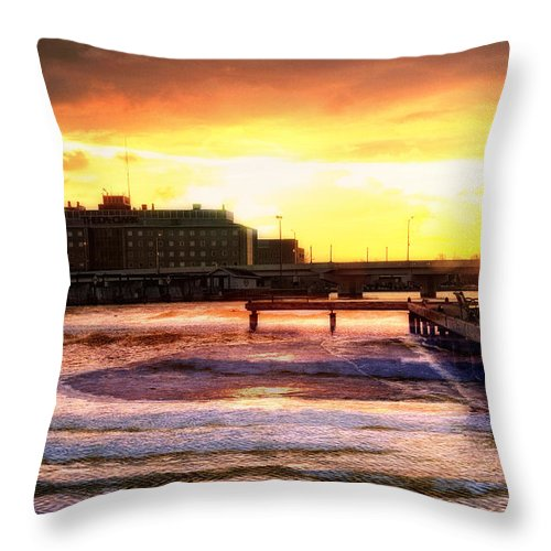 Theda Clark Throw Pillow featuring the photograph Theda Clark by Joel Witmeyer