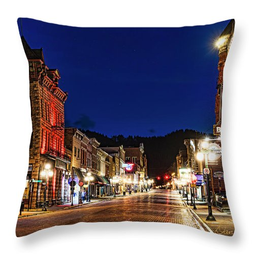 Deadwood Throw Pillow featuring the photograph Then And Now by Dan McGeorge