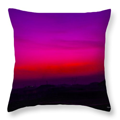 Landscape Throw Pillow featuring the photograph There Is A Wondrous Plan by Oghenefego Ofili