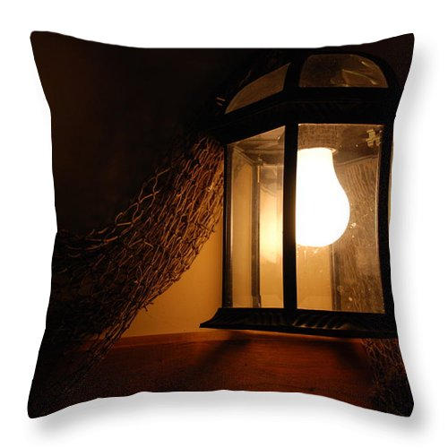 Lantern Throw Pillow featuring the photograph There Is Light In The Dark by Susanne Van Hulst