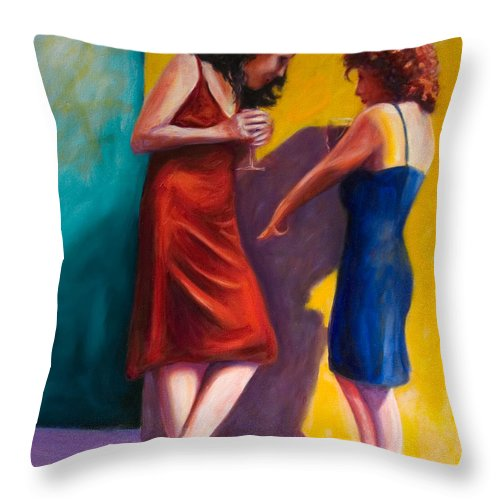 Figurative Throw Pillow featuring the painting There by Shannon Grissom