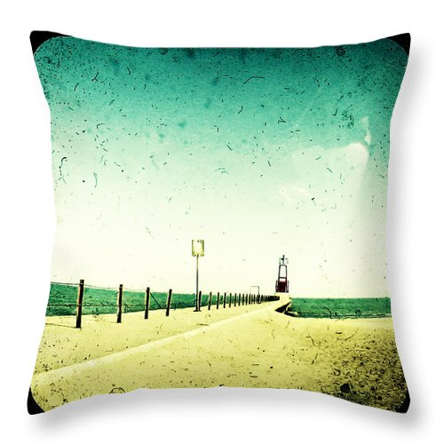 Beach Throw Pillow featuring the photograph These Days Are Gone by Dana DiPasquale