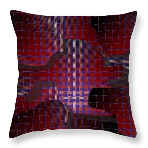 Digital Throw Pillow featuring the digital art These Pieces Dont Fit by Ron Bissett