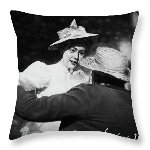Throw Pillow featuring the painting They Looked At Each Other in That Way by Waldemar Wesolowski