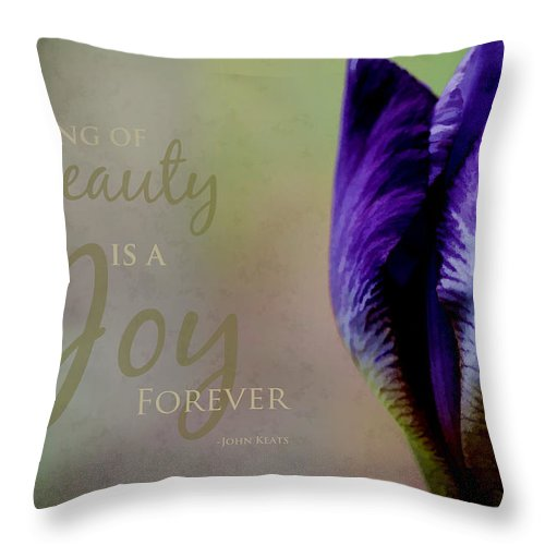 Inspirational Throw Pillow featuring the photograph Thing Of Beauty by Bonnie Bruno