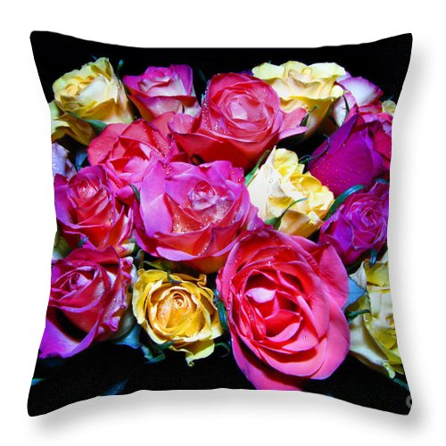 Roses Throw Pillow featuring the photograph Thirty Six 2 by September Stone