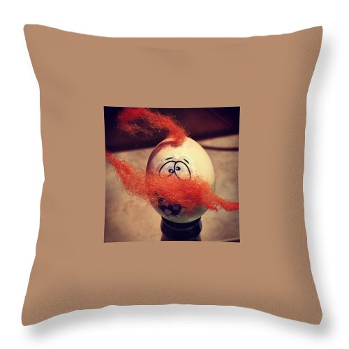 Beards Throw Pillow featuring the photograph This Egg by Charley Upton