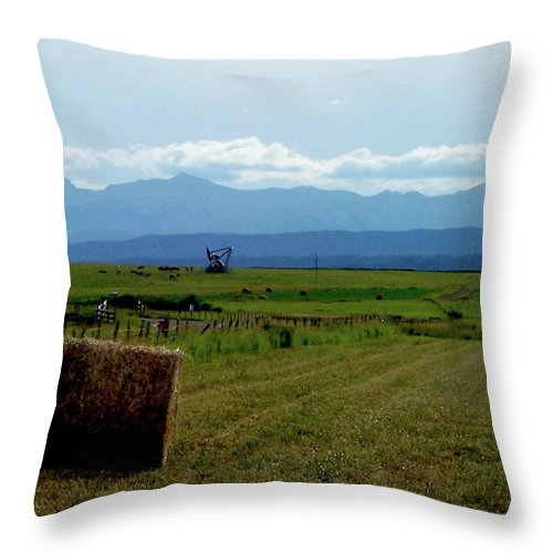 Al Bourassa Throw Pillow featuring the photograph This Is Alberta by Al Bourassa