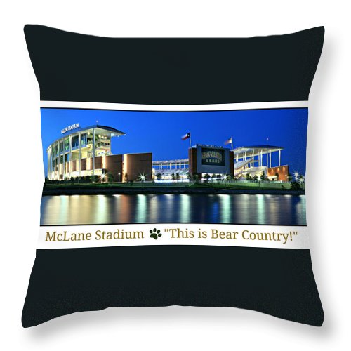 Baylor Throw Pillow featuring the photograph This Is Bear Country by Stephen Stookey